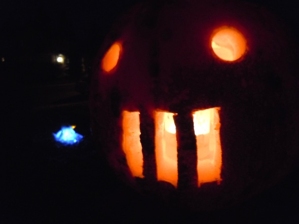 Pumpkin with a grill. Photo by Rodney Steadman.